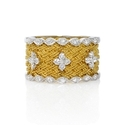 Simon G Diamond Antique Style 18k Two Tone Gold Ring
