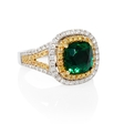 .72ct Le Vian Diamond and Tsavorite 18k Two Tone Gold Ring