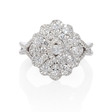 1.07ct Diamond Antique Style 18k White Gold Ring