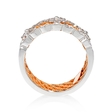 .31ct Simon G Diamond Antique Style 18k Two Tone Gold Ring