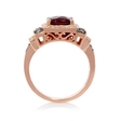 .39ct Le Vian Chocolatier Diamond and Raspberry Rhodolite Antique Style 14k Strawberry Gold Ring