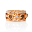 .48ct Le Vian Diamond Antique Style 18k Strawberry Gold Ring