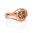 .90ct Le Vian Chocolate Diamond 14k Strawberry Gold Ring
