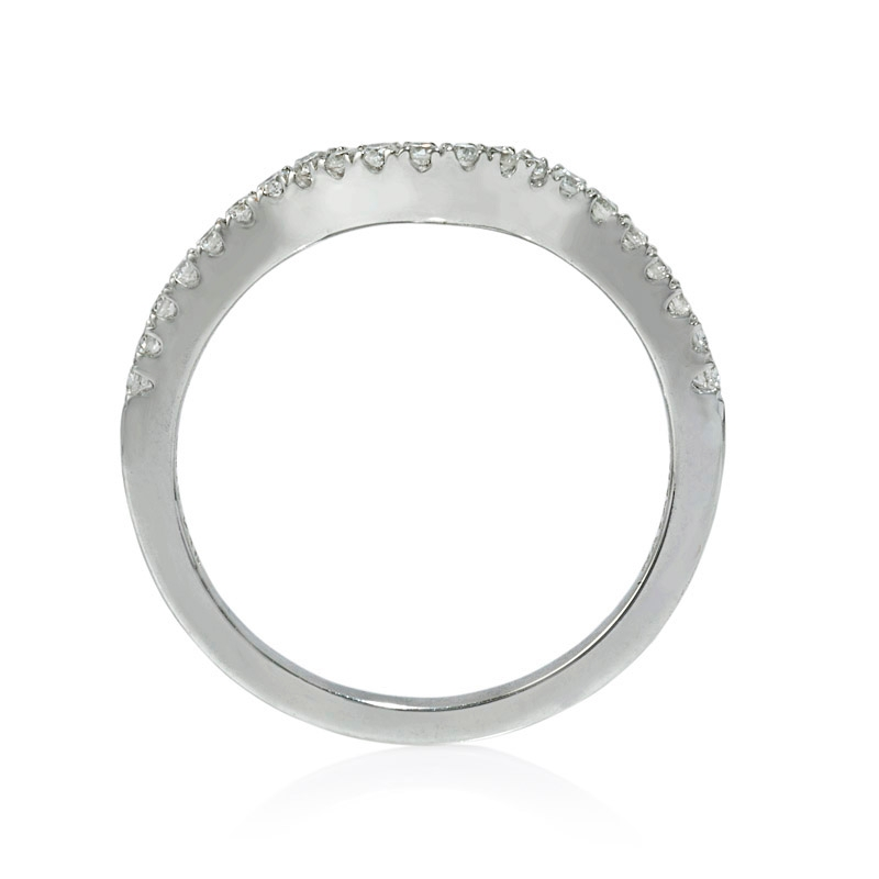 natalie k 18k white gold wedding band guard ring