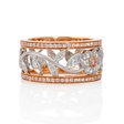 .75ct Simon G Diamond Antique Style 18k Two Tone Gold Floral Ring