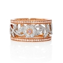 Simon G Diamond Antique Style 18k Two Tone Gold Floral Ring