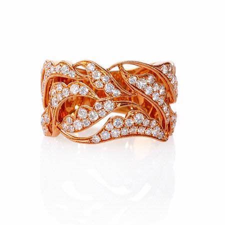 Diamond Antique Style 18k Rose Gold Ring