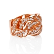 1.12ct Diamond Antique Style 18k Rose Gold Ring