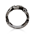 1.01ct Diamond Antique Style 18k White Gold and Black Rhodium Ring