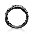 1.10ct Diamond Antique Style 18k White Gold and Black Rhodium Ring