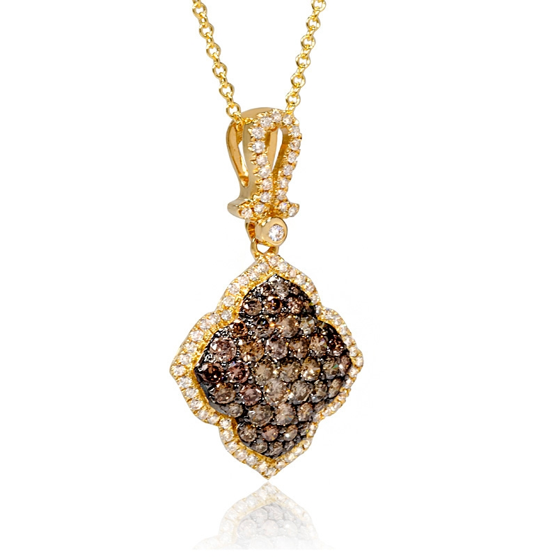 85ct le vian chocolate diamond 14k honey gold pendant. Black Bedroom Furniture Sets. Home Design Ideas