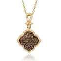 Le Vian Chocolate Diamond 14k Honey Gold Pendant Necklace