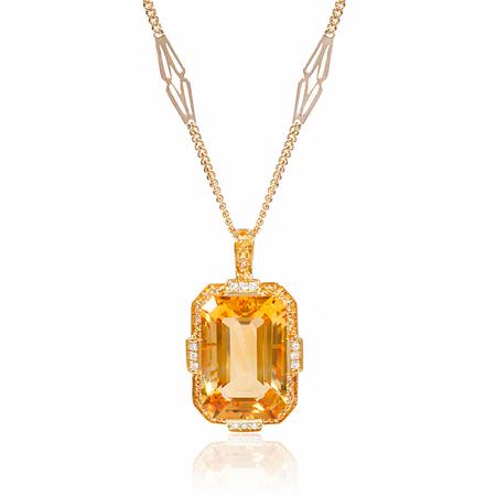 14ct diamond yellow sapphire and citrine 18k yellow gold pendant 14ct diamond yellow sapphire and citrine 18k yellow gold pendant aloadofball Choice Image