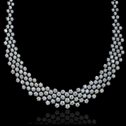 Diamond bridal necklaces diamond necklaces for your wedding day diamond 18k white gold necklace junglespirit Image collections