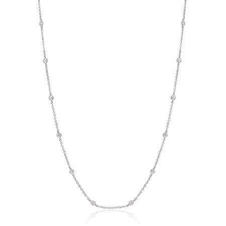 Diamonds by the Yard Antique Style 18k White Gold Necklace