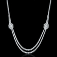 13.61ct Diamond 18k White Gold Necklace