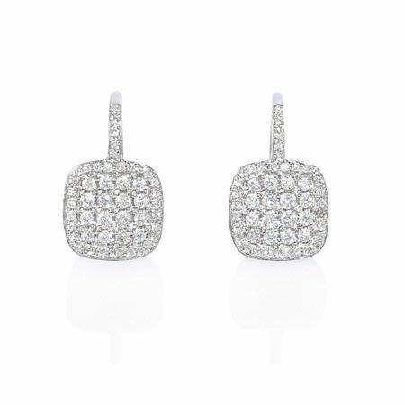 Diamond 14k White Gold Earrings