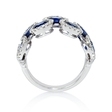 .32ct Diamond and Blue Oval Sapphire 18k White Gold Ring
