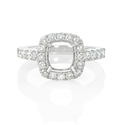 Diamond 18k White Gold Engagement Ring Setting