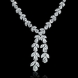 20.64ct Diamond Platinum Drop Necklace