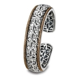 Charles Krypell Sterling Silver and Brown Diamond Bangle Cuff Bracelet