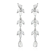 6.58ct Diamond 18k White Gold Dangle Earrings