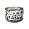 Charles Krypell Sterling Silver and Brown Diamond Band Ring