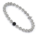 Charles Krypell Sterling Silver and Black Sapphire Bead Necklace