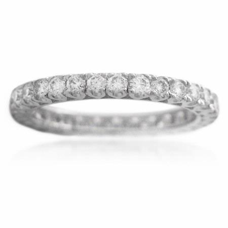 .88ct Diamond Platinum Eternity Wedding Band Ring