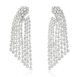 18.67ct Diamond 18k White Gold Dangle Earrings