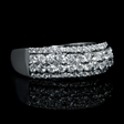.84ct Diamond 18k White Gold Wedding Band Ring