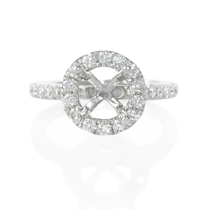 Halo Ring Halo Ring Settings For Round Diamonds
