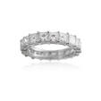 5.01ct Diamond 18k White Gold Eternity Wedding Band Ring