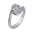 .15ct Simon G Diamond 18k White Gold Engagement Ring Setting