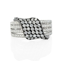 Diamond 18k White Gold and Black Rhodium Right Hand Ring