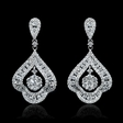 2.08ct Diamond 18k White Gold Dangle Earrings