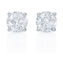 Diamond 2.04 Carats 14k White Gold Stud Earrings