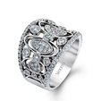 1.29ct Simon G Diamond Antique Style 18k White Gold Ring