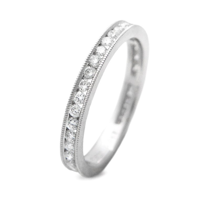 58ct antique style platinum wedding band ring