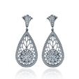 .52ct Simon G Diamond Antique Style 18k White Gold Dangle Earrings