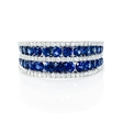 .37ct Diamond and Blue Sapphire 18k White Gold Ring