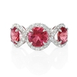 .45ct Diamond and Pink Tourmaline 18k White Gold Ring