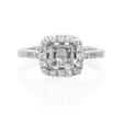 .49ct Diamond Antique Style Platinum Halo Engagement Ring Setting