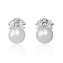 Diamond and South Sea Pearl 18k White Gold Earrings