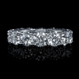 7.20ct Diamond Platinum Eternity Wedding Band Ring