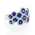 .34ct Diamond and Blue Sapphire 18k White Gold Ring
