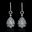 2.12ct Diamond 18k White Gold Dangle Earrings