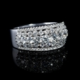 1.52ct Diamond 18k White Gold Five Row Ring
