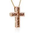 1.44ct Diamond 18k Rose Gold Cross Pendant