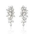 2.29ct Diamond 18k White Gold Cluster Earrings
